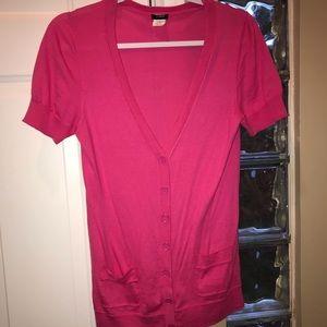 J Crew sz  medium shirt sleeve cardigan sweater 🌸
